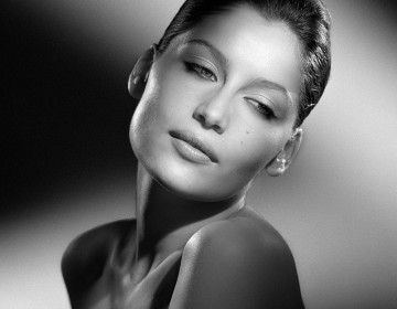 PORTRAIT OF LAETITIA CASTA MODEL AND FRENCH ACTRESS